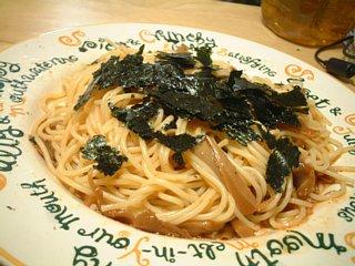 明太舞茸スパゲティー